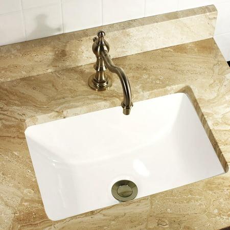 Ceramic Undermount Vanity Sink (HIGHPOINT COLLECTION  Petite 16x11 Rectangle Ceramic Undermount Vanity Lavatory)