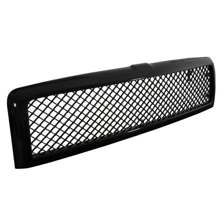 Spec-D Tuning For 1994-2001 Dodge Ram 1500 2500 3500 ABS Glossy Black Honeycomb Mesh Front Hood Grille 1994 1995 1996 1997 1998 1999 2000 2001