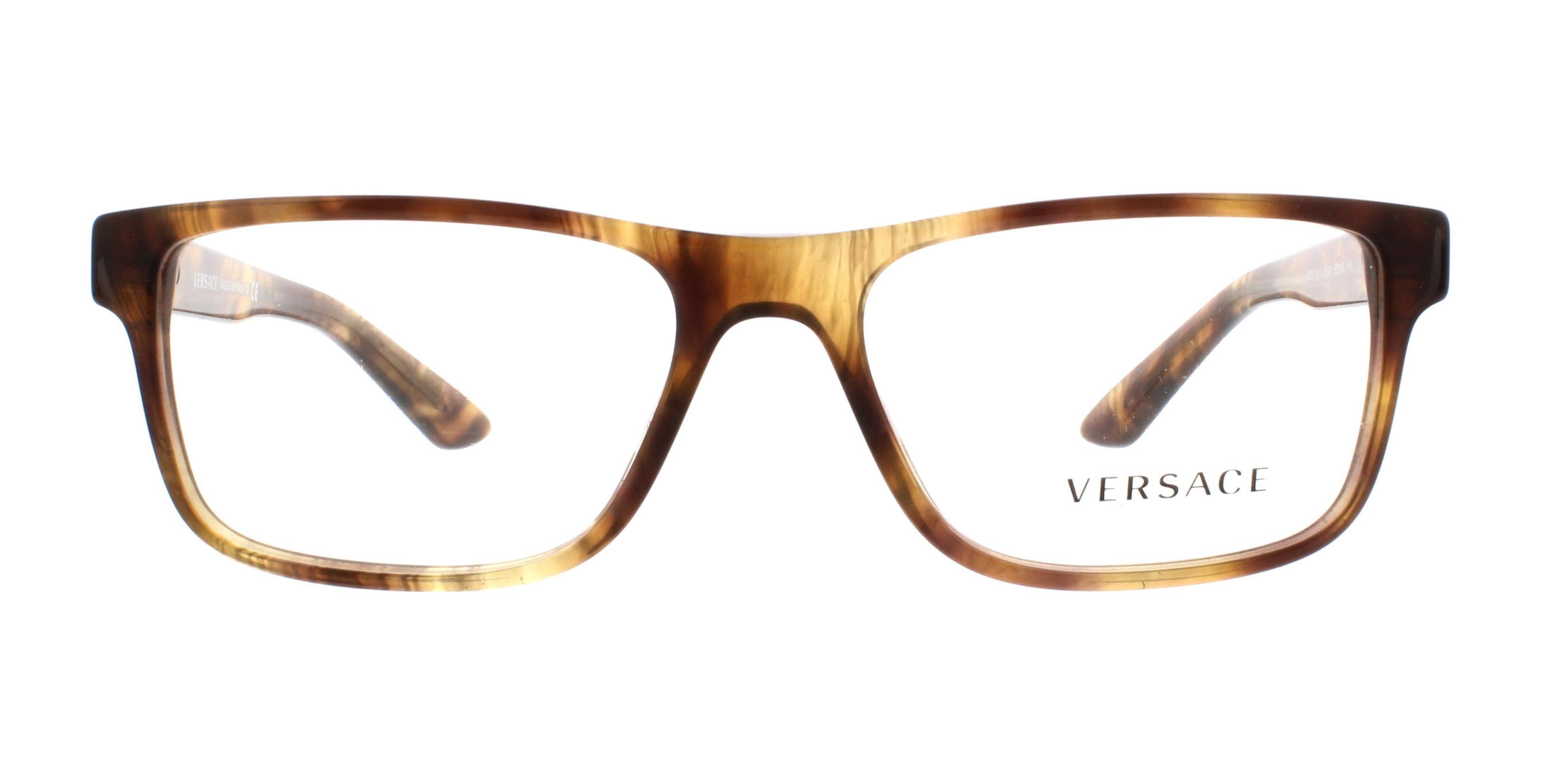 55c82a5ac3e VERSACE Eyeglasses VE3211 5143 Striped Havana 55MM - Walmart.com