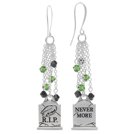 Halloween Earrings - Nevermore Gravestone - Exclusive Beadaholique Jewelry - Halloween Gravestones Names