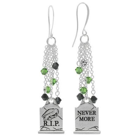 Halloween Earrings - Nevermore Gravestone - Exclusive Beadaholique Jewelry Kit (Funny Gravestone Quotes Halloween)