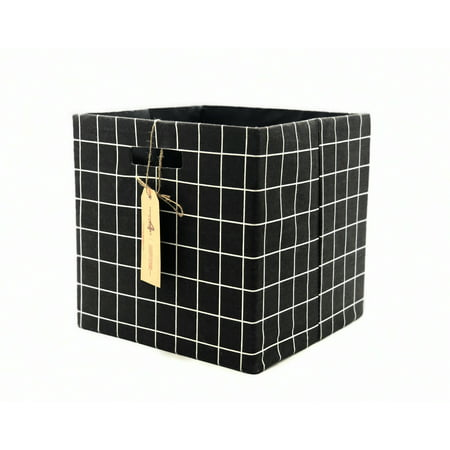2-Piece Foldable Storage Cube (Grid Pattern) by Handcrafted 4 Home ()