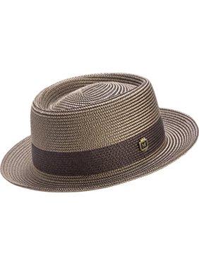 2541c6f1f18a6 Product Image Montique Men s Two Tone Braided Pork Pie Hat (M