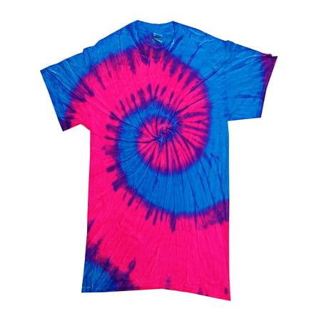 Tie Dye T-Shirts Multicolor Spiral Adult Sizes 100% Preshrunk Cotton