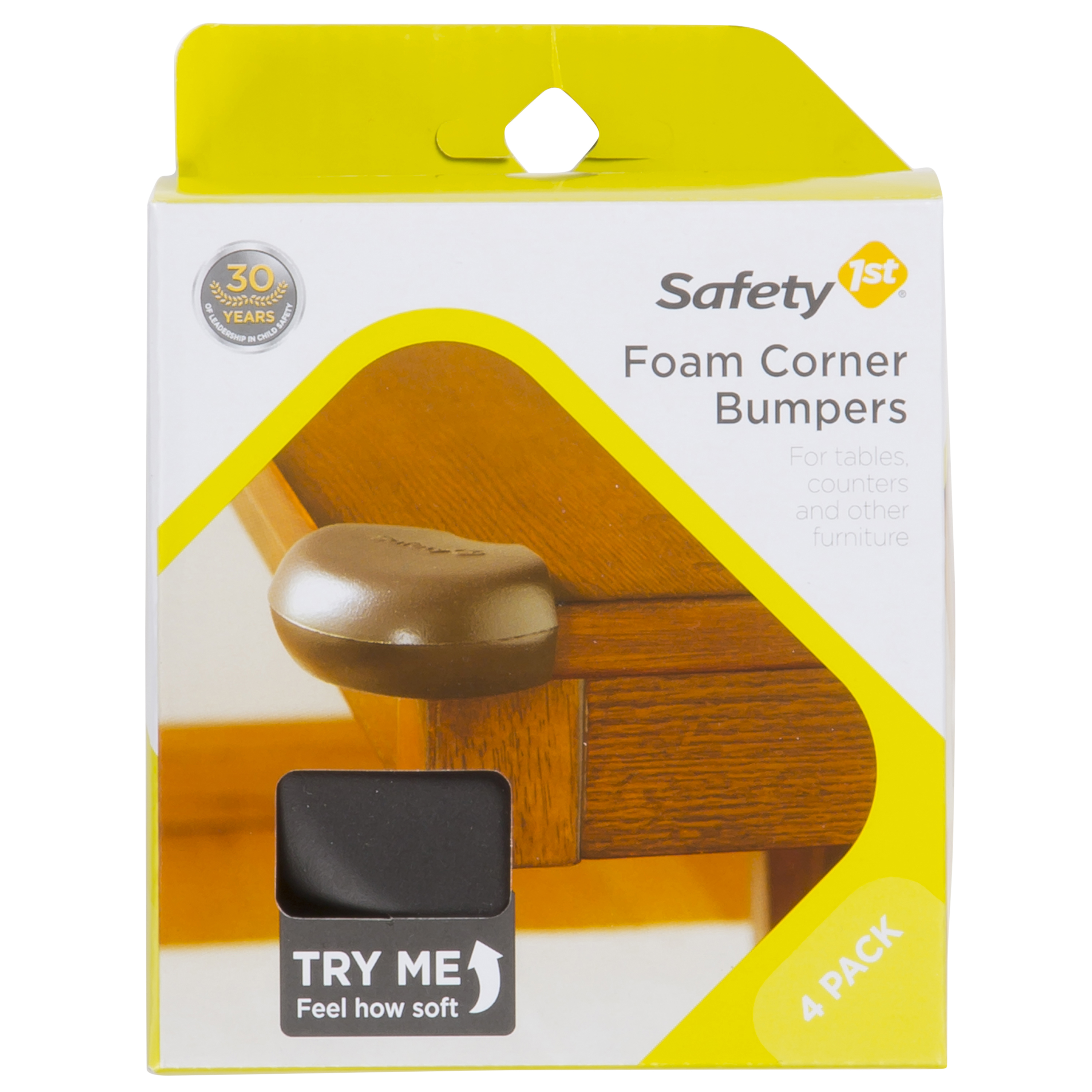 Safety 1st Foam Corner Bumper For Furniture, Espresso