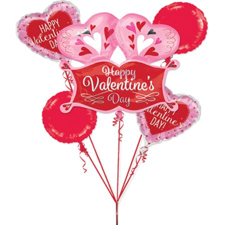 Happy Valentine's Day Balloon Bouquet](Valentine's Day Balloons)
