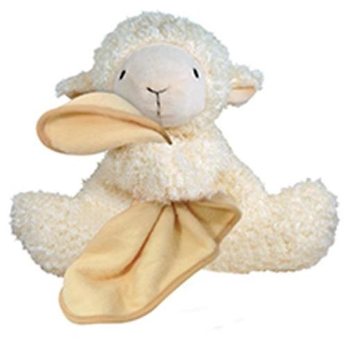 Stephan Baby Super Soft Plush Blankie Buddy Security Blanket, Cream Lamb