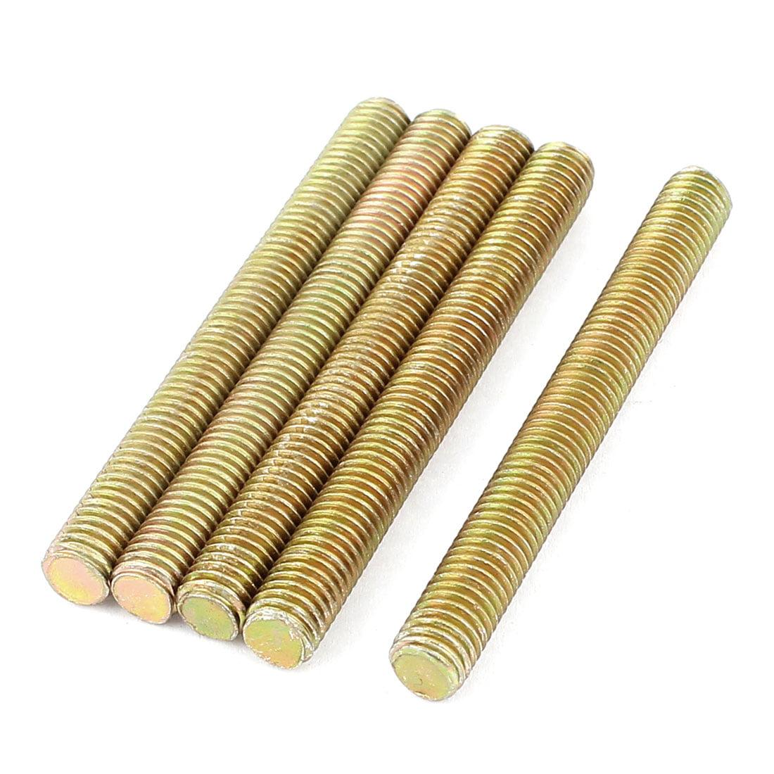 Unique Bargains 1.25mm Pitch M8 x 75mm Threaded Rod Bar Bolt Bronze Tone 5 Pcs