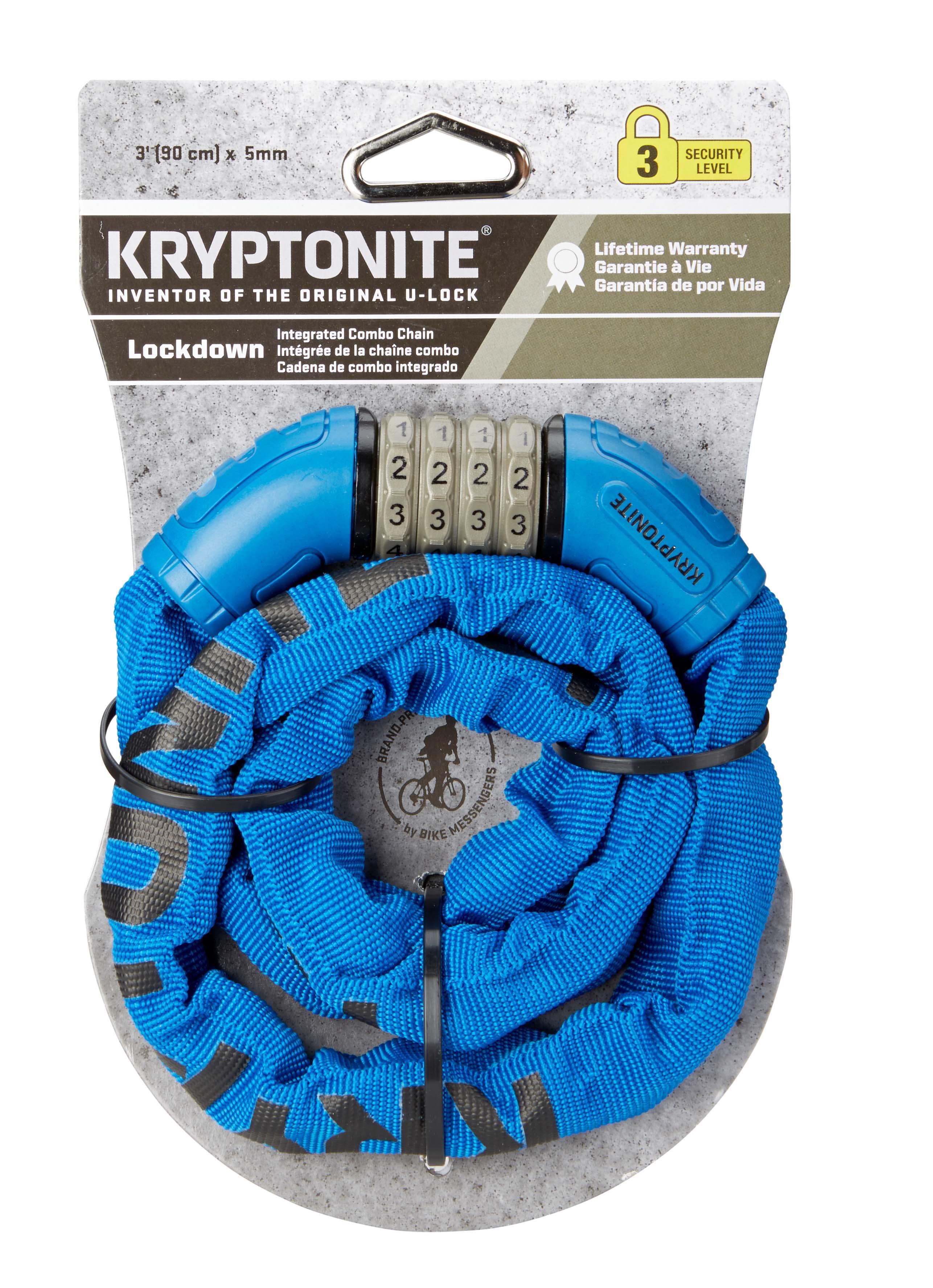 Kryptonite Resettable Combination Chain Lock Bike Chain Lock 3/' x 5mm NEW