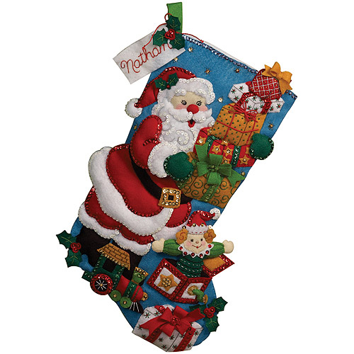 Bucilla Felt Stocking Kit, Gifts From Santa