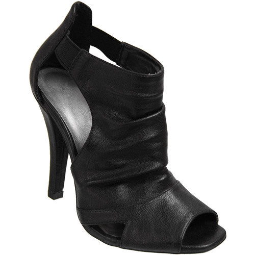 Brinley Co. - Women's Slouchy Vamp Peep Toe Booties