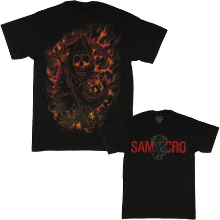 Sons of Anarchy Burning Reaper T Shirt - Sons Of Anarchy Halloween