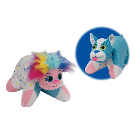 Flip 'N Play Friends 2 in 1 Plush to Pillow Troll to