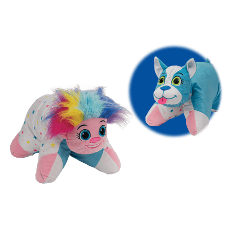 Flip 'N Play Friends 2 in 1 Plush to Pillow Troll to Puppy