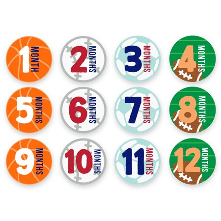 Baby First Year Milestone Belly Stickers (First Years Belly Stickers)