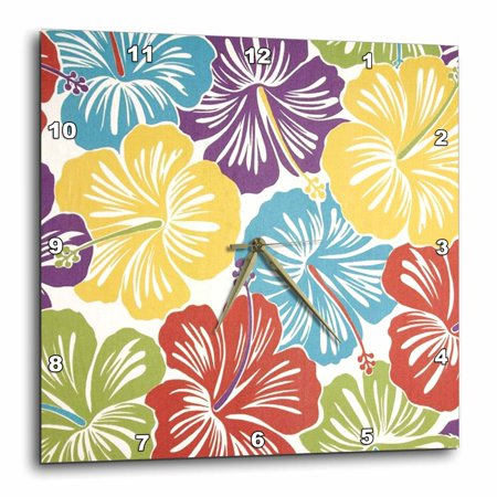3dRose Teal Blue Tropical Hibiscus Flowers - Floral Art - Hawaiian ...