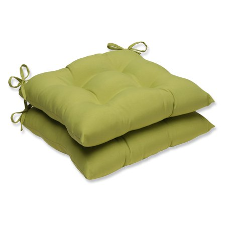 Pillow Perfect Outdoor/ Indoor Fresco Pear Wrought Iron Seat Cushion (Set of 2) ()