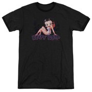 Betty Boop Glowing Mens Adult Heather Ringer Shirt