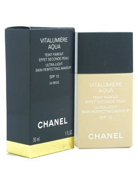 Chanel Vitalumiere Aqua Ultra Light Skin Perfecting Make Up SPF 15 -B30 Beige Sable 1 oz Makeup