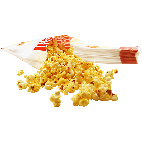 Paper Popcorn Concession Bags - Set of 100 - 100 Small Bags