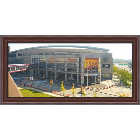 Quicken Loans Arena 40X22 Large Walnut Ornate Wood Framed Canvas Art   Home Of The Cleveland Cavaliers