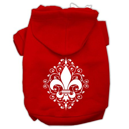 Henna Fleur De Lis Screen Print Pet Hoodies Red Size Med (12) A poly/cotton sleeved hoodie for cold weather days, double stitched in all the right places for comfort and durability!Product Summary : Pet Apparel/Dog Hoodies/Screen Print Hoodies/Henna Fleur De Lis Screen Print Pet Hoodies@Pet Apparel/Dog Hoodies/Screen Print Hoodies COPY/Henna Fleur De Lis Screen Print Pet Hoodies