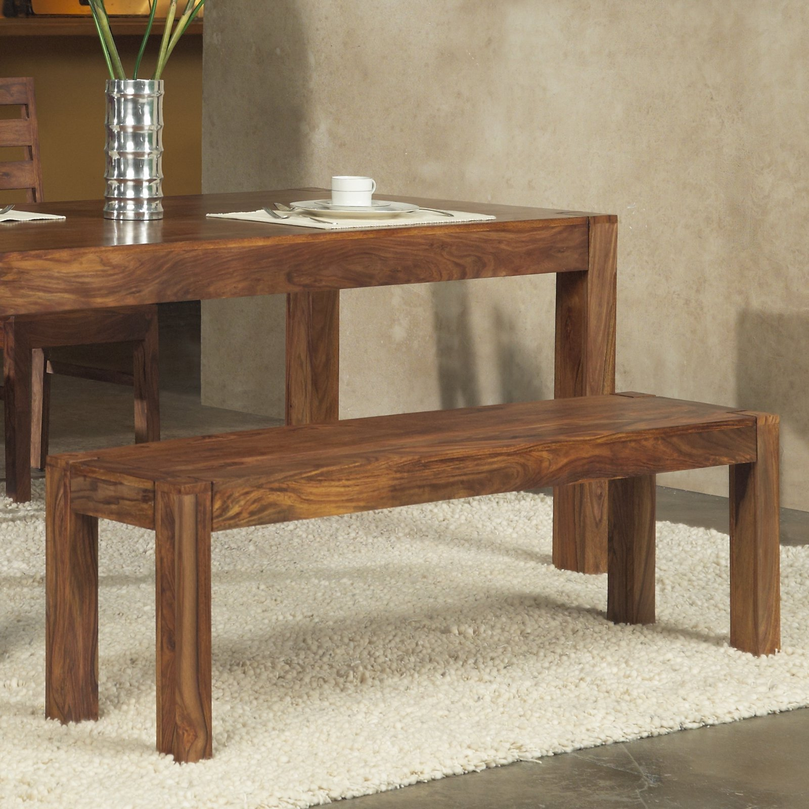 Modus Genus Solid Wood Dining Bench Honey by Modus Furniture