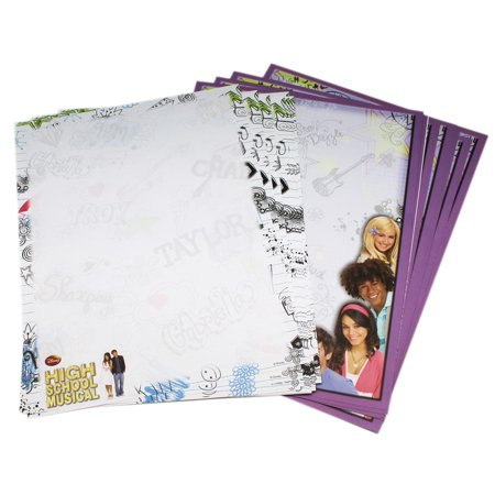 Scribble Scrabble Paper - Disney's High School Musical Scribbled Notebook Style Computer Paper