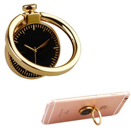Insten Stylish Universal Roating 360 Degree Finger Grip Watch Metal Ring Holder Stand for Mobile Phone / Tablet - Gold (Witches Ring)