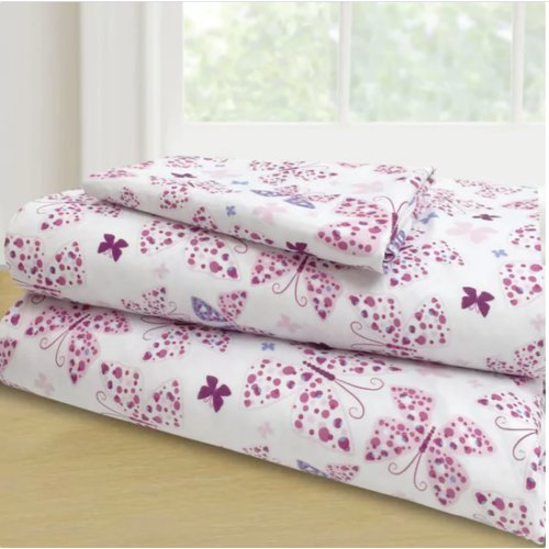 Harriet Bee Randel 3 Piece Butterflies Sheet Set