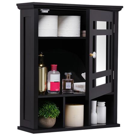 Topeakmart Wall Mount Bathroom Cabinet Storage Organizer Medicine Cabinet Kitchen Laundry