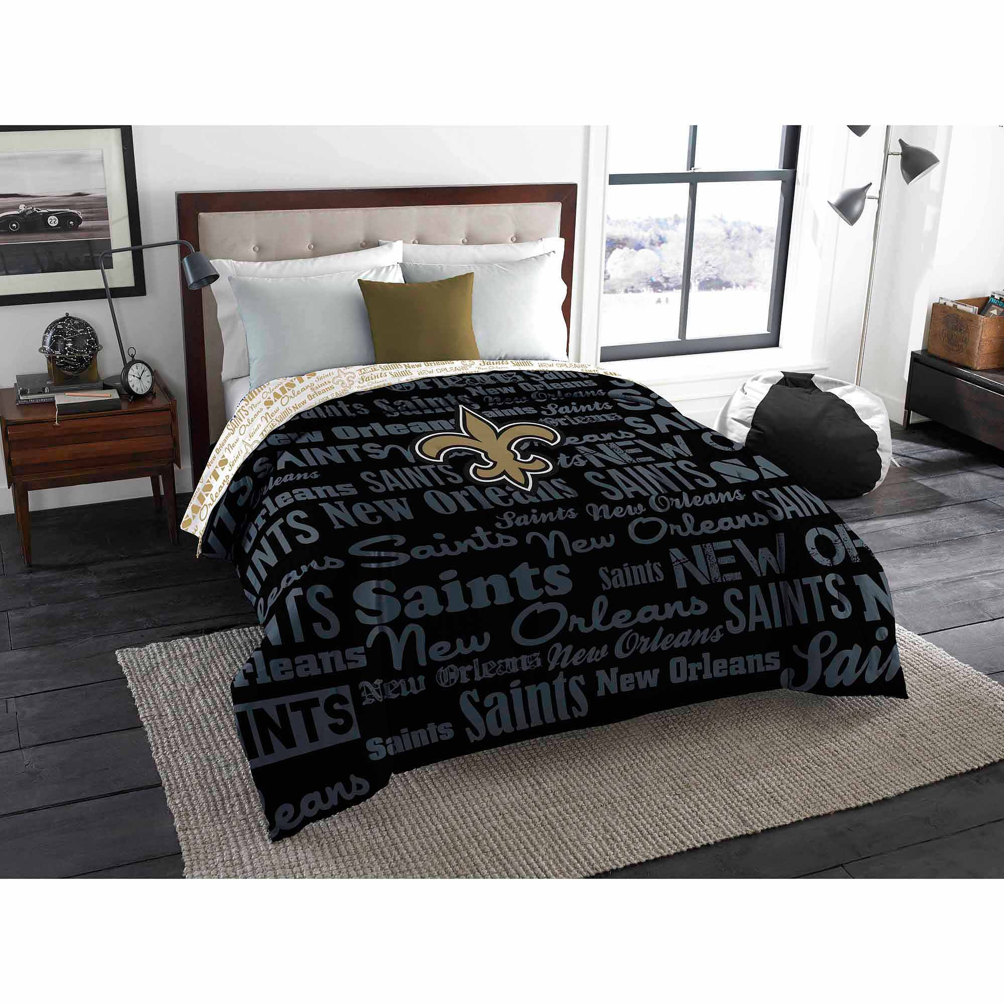 NFL New Orleans Saints Twin/Full Bedding Comforter