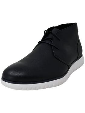 Calvin Klein Men's Terrell Soft Tumbled Leather Dark Navy Ankle-High Oxford - 9.5M