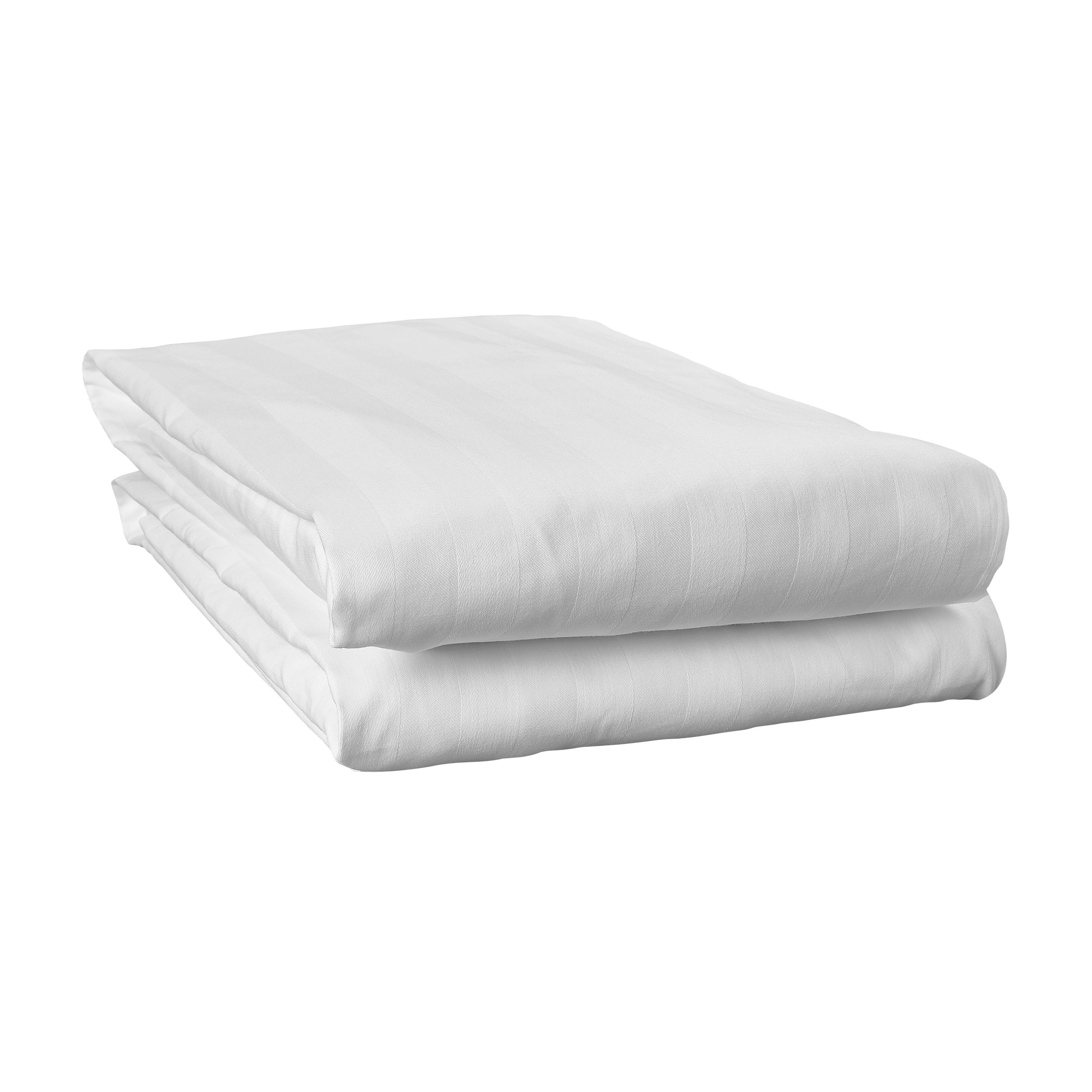 200 Thread Count Polycotton Fitted Valance Sheet King Bed Size in White