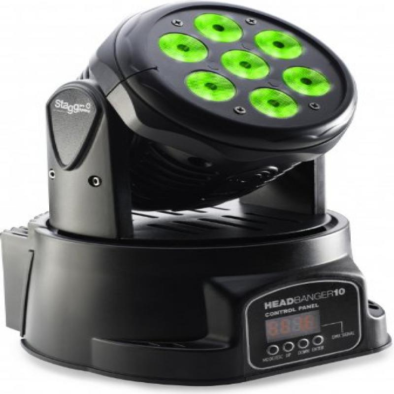 Stagg SLI MHW HB10-1 LED Headbanger 10 LED Moving Head In...