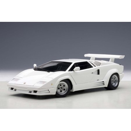 Lamborghini Countach 25th Anniversary Edition White 1 18 Diecast