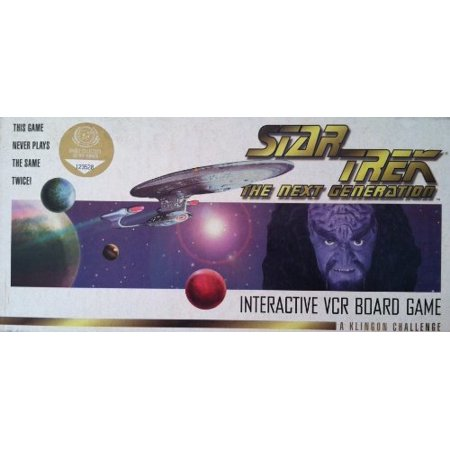 Star Trek: The Next Generation Interactive VCR Board Game – A Klingon (Star Trek The Next Generation Booby Trap)