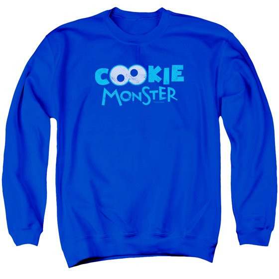 Sesame Street TV Show Cookie Monster Eyeball Logo Adult Crewneck Sweatshirt