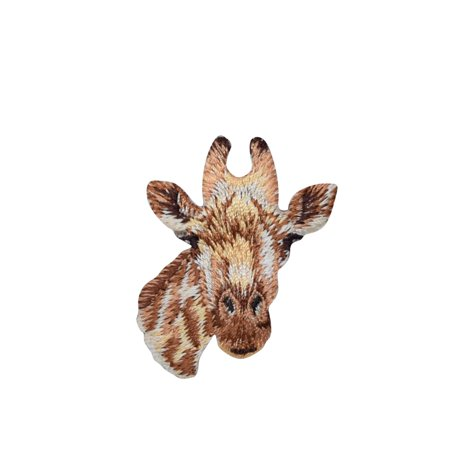 Giraffe Head Peg - Giraffe Head - Natural Animals - Iron On Applique/Embroidered Patch