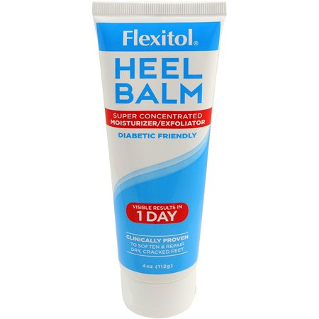 Flexitol  Heel Balm, 4 Oz Tube:  Rich Moisturizing and Exfoliating Foot Cream for Rough, Dry, and...