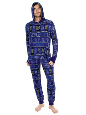 7b44204093 Product Image Doctor Who Exterminate Adult Navy One Piece Pajama Onesie  Jumpsuit