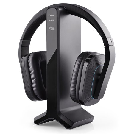 Avantree HT280 2.4G RF Wireless Headphones for TV Watching with Transmitter Charging Dock, Ideal for Seniors & Hearing Impaired, Features High Volume Settings, No Delay & Auto Pairing, 100ft (Best Tv Headphones For Hearing Impaired)