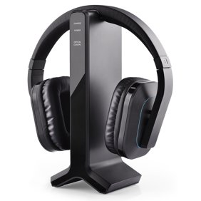 Sony Tv Wireless Over Ear Noise Reduction Comfortable Wireless Headphones Whrf400r With Transmitter Dock Tmrrf400 Sony Rechargeable Battery Connecting Cables Ac Adapter For Watching The Tv Walmart Com Walmart Com