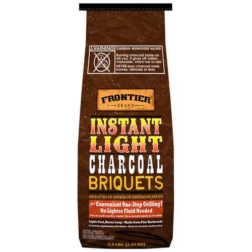 Frontier CBI36 Instant Light Charcoal Briquets - 3.6-Pound