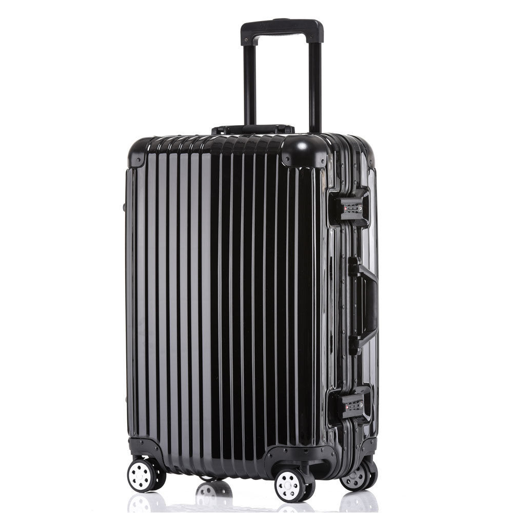 "Zimtown 20"" Hard Side Spinner Travel Luggage Suitcase Set Carry On Rolling Flexible Wheel Black"