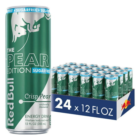 (24 Cans) Red Bull Energy Drink, Sugar Free Crisp Pear, 12 Fl Oz, Sugarfree Pear Edition