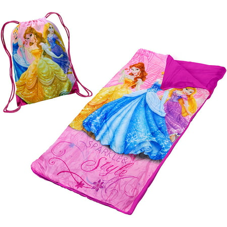 Kids Sleeping Bags (Disney Princess Slumber Set/Nap Mat with BONUS Sling)