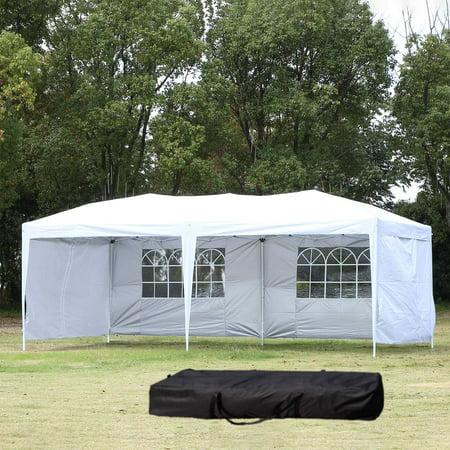 Ktaxon 10' X 20' Outdoor Patio Gazebo EZ POP UP Party Tent Wedding Canopy W/4 Side Walls 7.5' Wide Outdoor Wall