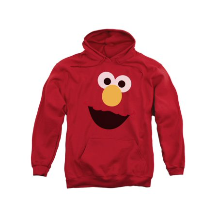 Sesame Street Classic TV Show Elmo Face Outline Adult Pull-Over - Sesame Street Adult