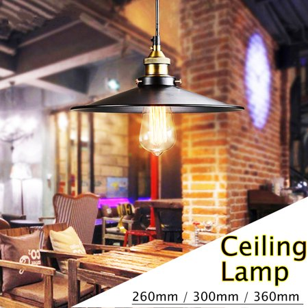 Retro Ceiling Lamp Pendant Light Industrial Iron Lampshade Fixture Cafe Loft 300/360mm Wall Sconce Chandelier Light Lamp Lampshade Gooseneck For Kitchen Farmhouse -